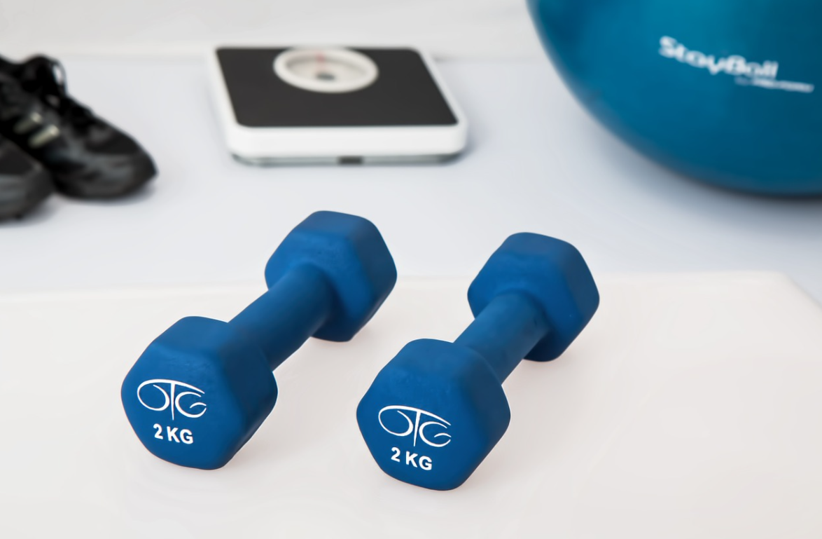 činky na cvičení