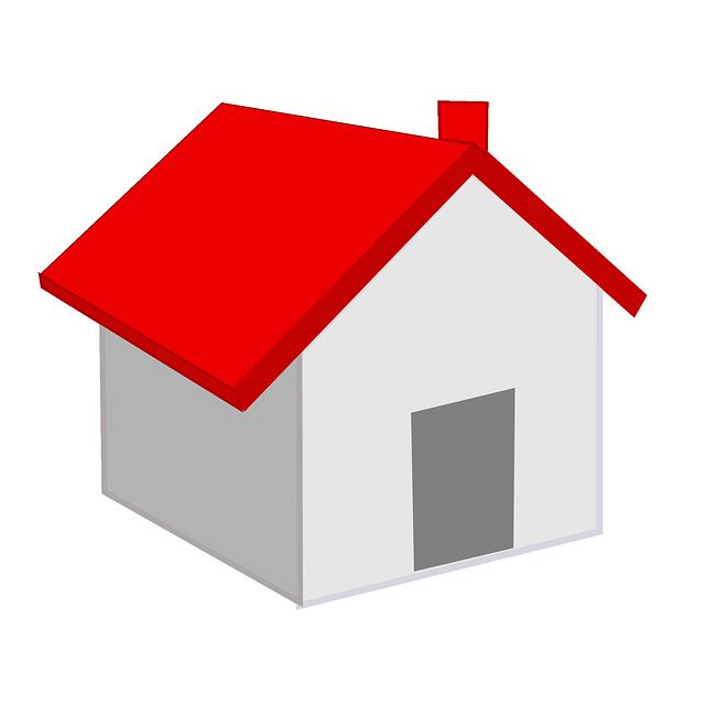 domeček, červená střecha