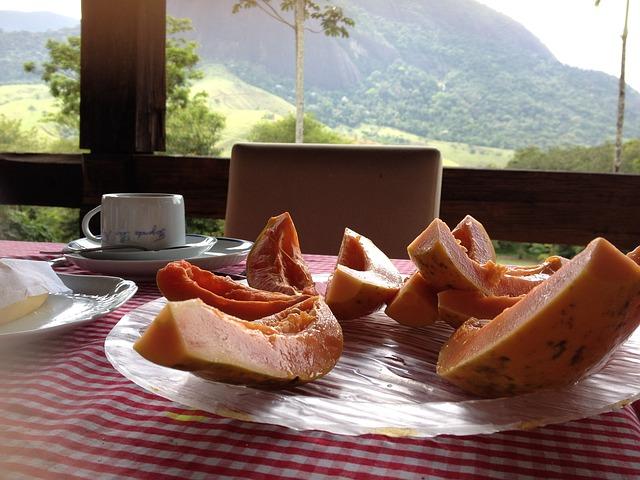 snídaně papaya