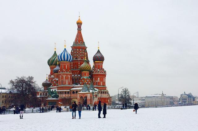 moskva kostel v zimě