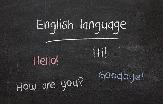 Tabule s anglickými slovy
