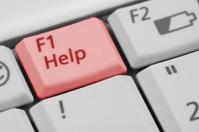 pomoc na klávesnici